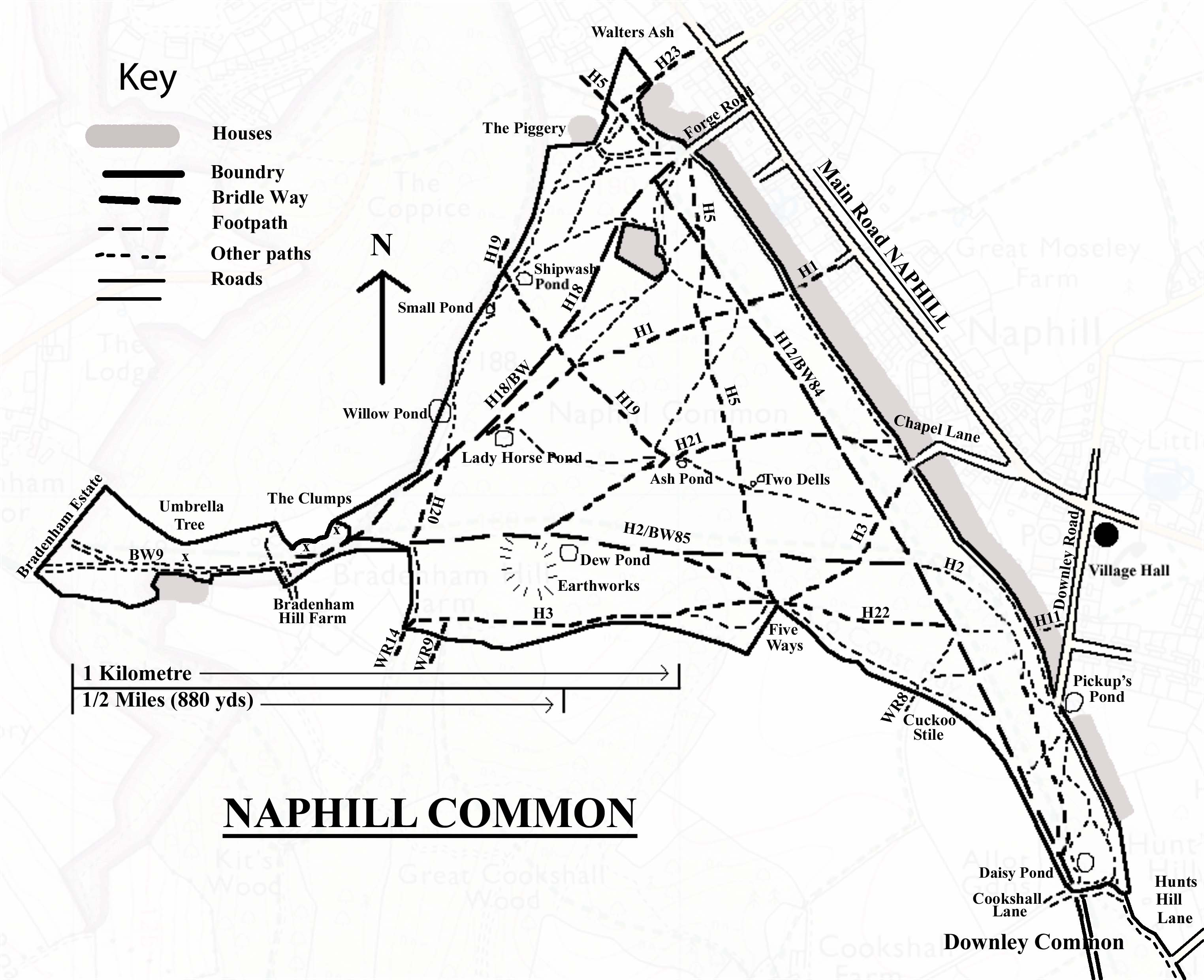 Naphill Common Footpaths